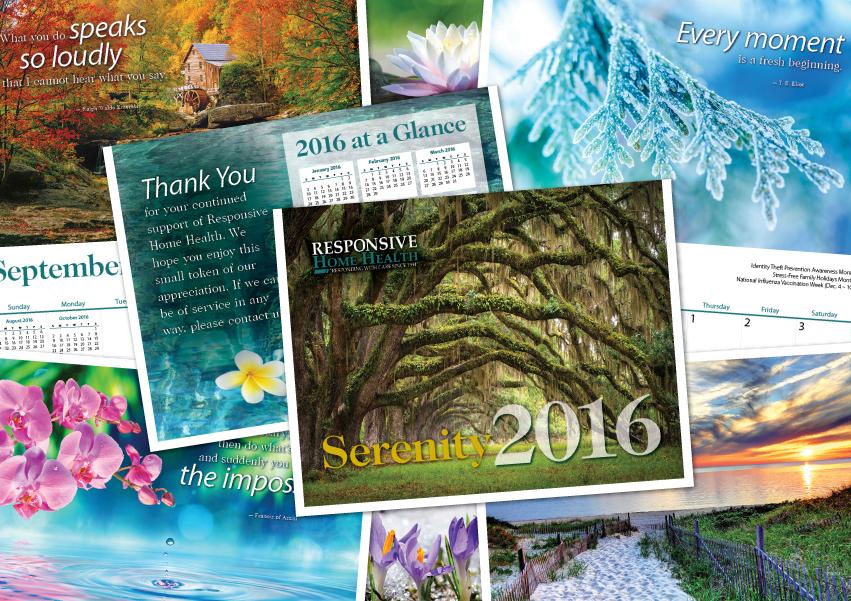 promotional home care marketing calendar