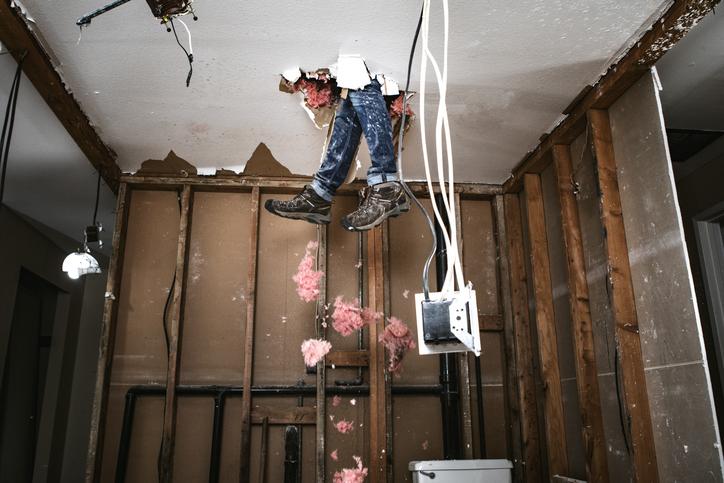 Contractor Man Doing Home Improvement and Demolition - elder care marketing